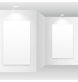 empty white room with picture frame vector image vector image