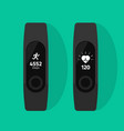 fitness band run tracker flat cartoon vector image