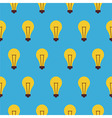 Flat Seamless Pattern Creativity Idea Lamp vector image