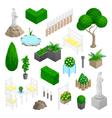 Garden Park Landscape Elements vector image vector image
