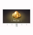 golden eggs for celebration happy easter on vector image