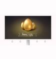golden eggs for celebration of happy easter vector image vector image