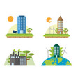 green energy and cities vector image vector image