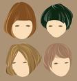 hair cute girl vector image