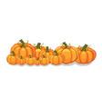 halloween pumpkins horizontal banner vector image vector image