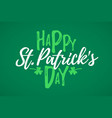 happy st patricks day greeting card 17 march vector image vector image