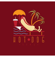 hot dog lounge concept design template vector image vector image