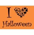 I love Halloween vector image vector image