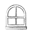 interior window isolated vector image vector image