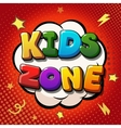 Kids zone banner design Children playground zone vector image vector image