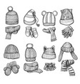 knitting cap and scarf vector image vector image