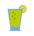 lemonade glass cup vector image vector image