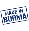 made in burma stamp vector image vector image