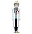 male doctor cartoon vector image