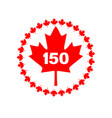 maple leaf 150 canada graphic vector image