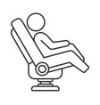 massage chair icon on white background line style vector image vector image