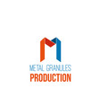 metal production icon vector image