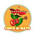 mexican cinco de mayo emblem vector image
