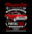 muscle car - pontiac gto vector image