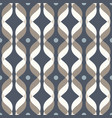 ogee seamless curved pattern abstract geometric vector image vector image