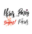 paris hand drawn calligraphy vector image