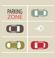 parking zone design vector image vector image