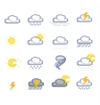 Pixel Weather Icons vector image vector image