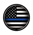Police Lives Matter Thin Blue Line Flag vector image vector image