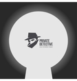 Private detective logo vector image