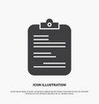 report medical paper checklist document icon vector image