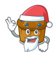 santa mufin blueberry mascot cartoon vector image