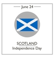 Scotland Independence Day vector image vector image