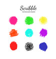 scribble smears set 1 vector image vector image