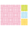 Seamless floral pattern in different pastel color vector image vector image