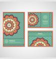 Set of cards with mandala