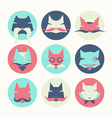 Set of stylized animal avatar bright cats vector image vector image
