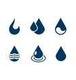 Set of water drops isolated over white vector image vector image