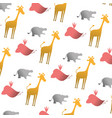 silhouette wild animal safari background vector image vector image