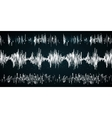 Sound wave on a dark background vector image vector image