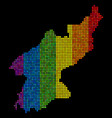spectrum pixel north korea map vector image