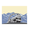 steam train locomotive mountains retro vector image vector image
