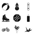 stripling sport icons set simple style vector image vector image