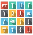 Tools Flat Icons Set vector image vector image