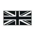 United Kingdom Flag monochrome on white background vector image