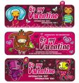 valentines day sunset banners vector image vector image