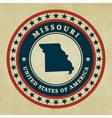Vintage label Missouri vector image vector image
