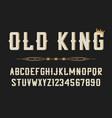 vintage stylized font retro serif alphabet vector image