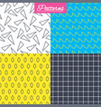 waves triangles and squares seamless textures vector image