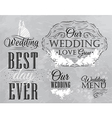 Wedding Set coal vector image