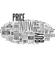 when to buy now and when to bid text word cloud